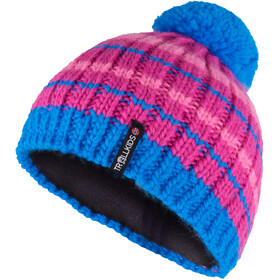 TROLLKIDS Hafjell Bonnet Enfant, dark pink/light pink/med blue